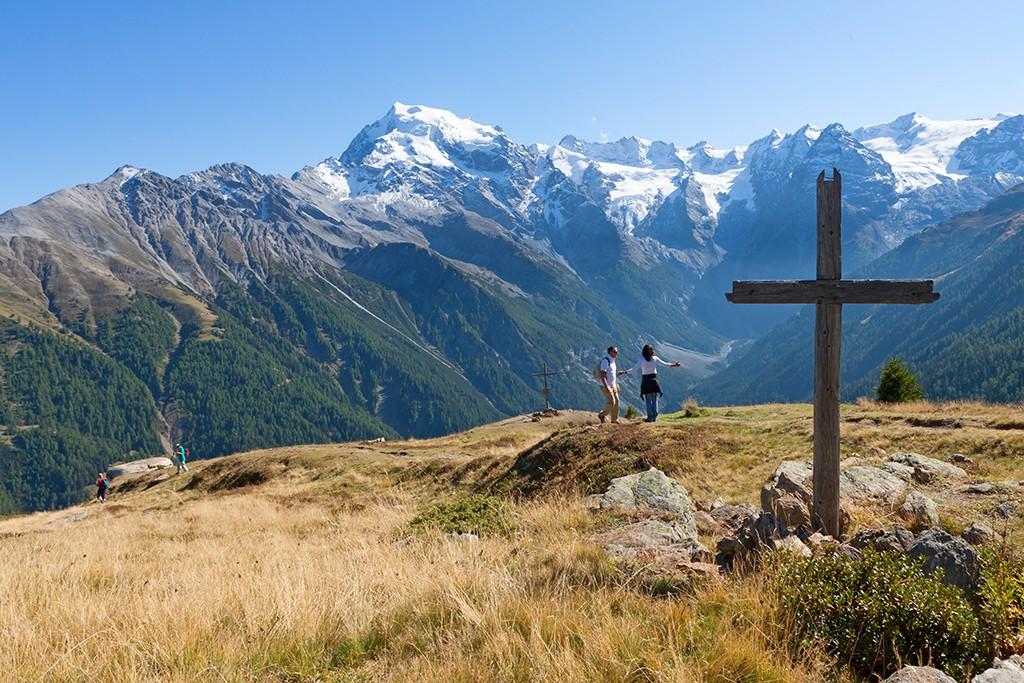 Suedtirol, Vinschgau, oberhalb von Trafoi, zikra 15 Minuten zu Fuss oberhalb der Furkelhuette,